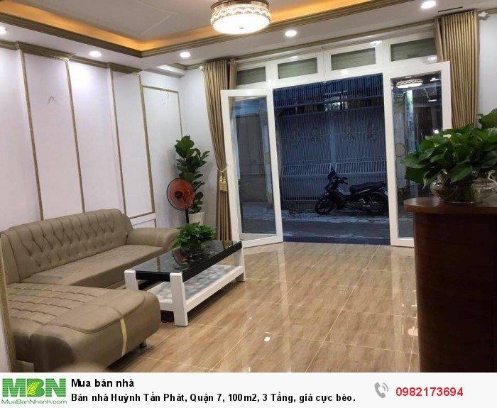 Bán nhà Huỳnh Tấn Phát, Quận 7, 100m2, 3 Tầng, giá cực bèo.