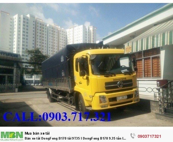 Bán xe tải DongFeng B170 tải 9T35 l DongFeng B170 9.35 tấn l DongFeng 9tan35 1