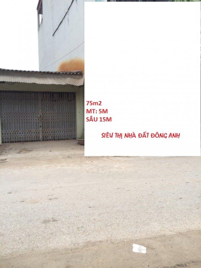 Bán đất 75m2 mặt đường Xuân Canh thôn Lực Canh, Đông Anh.