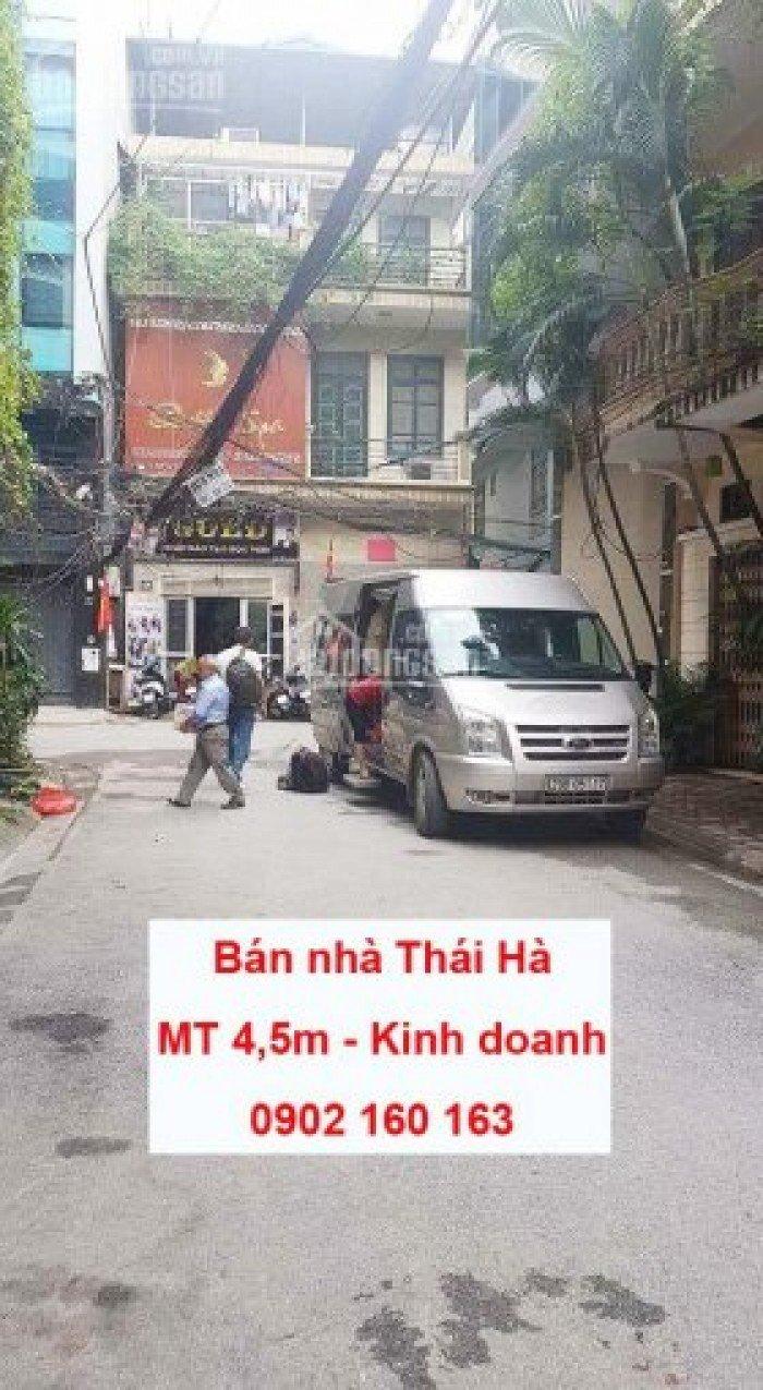 Bán nhà Thái Hà. MT 4,5m. Kinh doanh