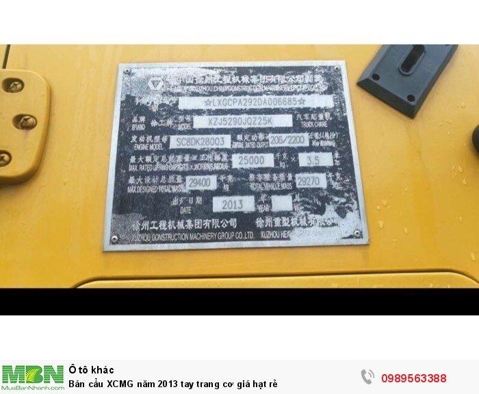 Bán cẩu XCMG năm 2013 tay trang cơ giá hạt rẻ 2
