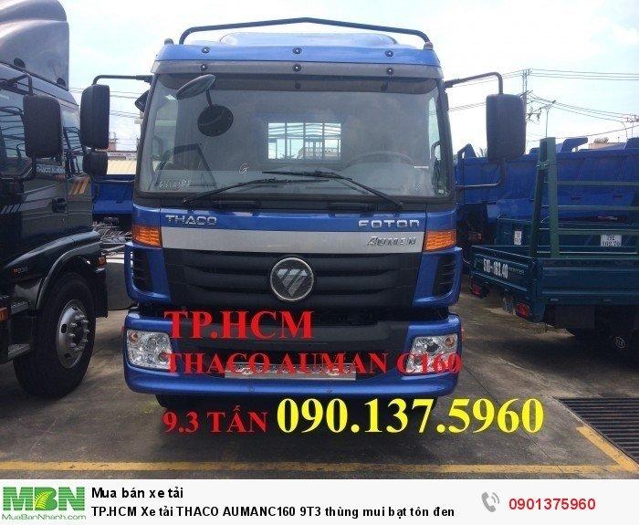 Xe tải Thaco Auman C160 9T3 thùng mui bạt tôn đen TP.HCM