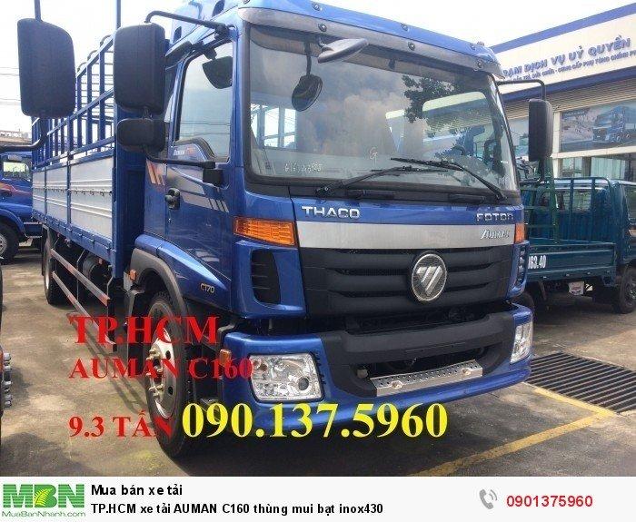 Xe tải Auman C160 thùng mui bạt inox430 TP.HCM