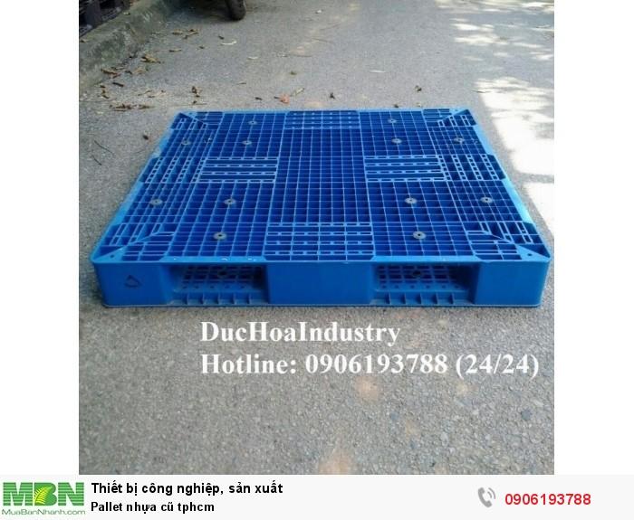 Cung cấp pallet nhựa cũ giá rẻ tại tphcm, giao hàng toàn quốc - Liên hệ: 0906193788 (Nguyễn Hòa 24/24)