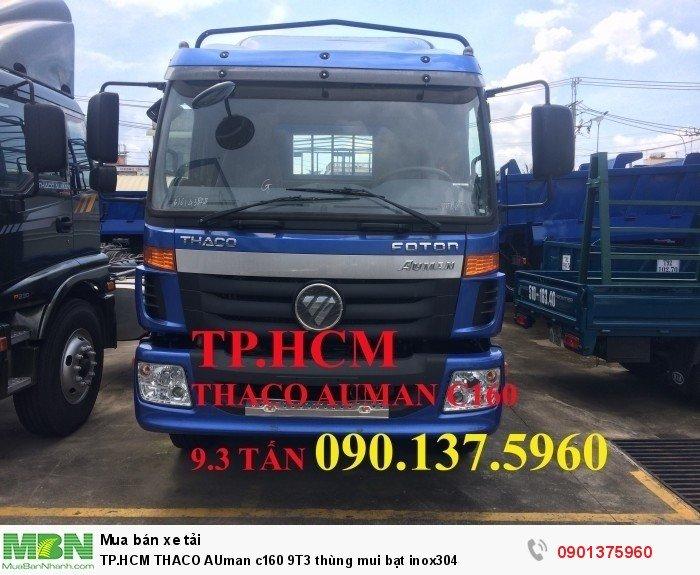 Thaco Auman c160 9T3 thùng mui bạt inox304 TP.HCM
