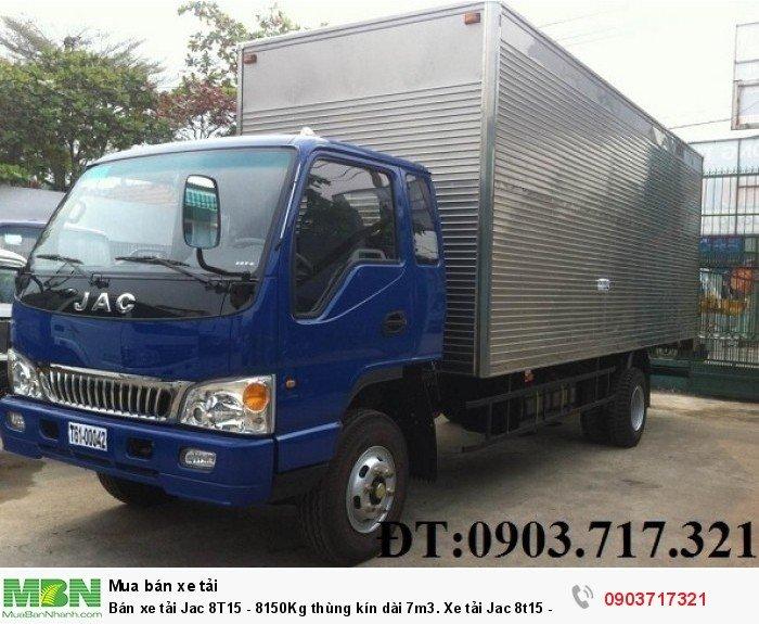 Bán xe tải Jac 8T15 - 8150Kg thùng kín dài 7m3. Xe tải Jac 8t15 - HFC1383K1