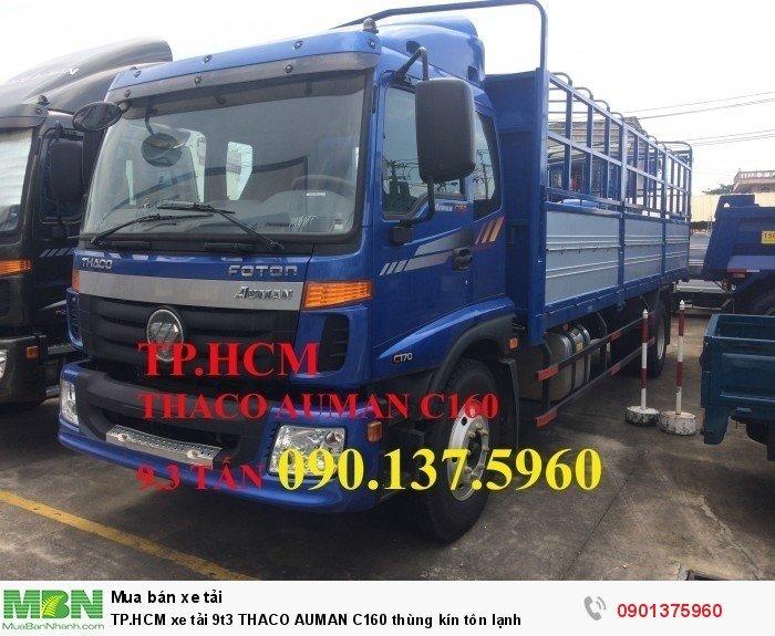 Xe tải 9t3 Thaco Auman C160 thùng kín tôn lạnh TP.HCM