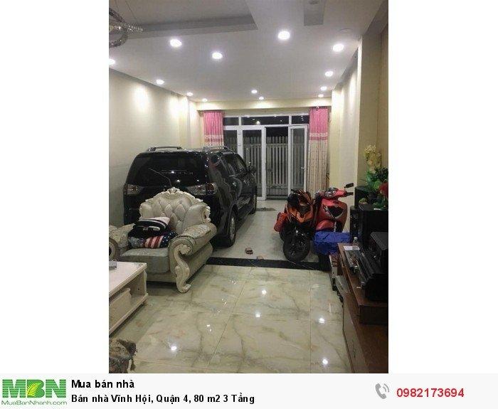 Bán nhà Vĩnh Hội, Quận 4, 80 m2 3 Tầng