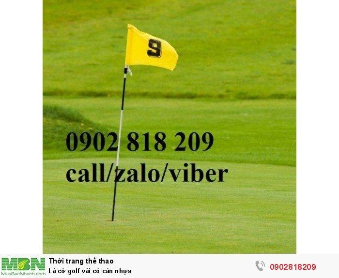 Lá cờ golf vải có cán nhựa1