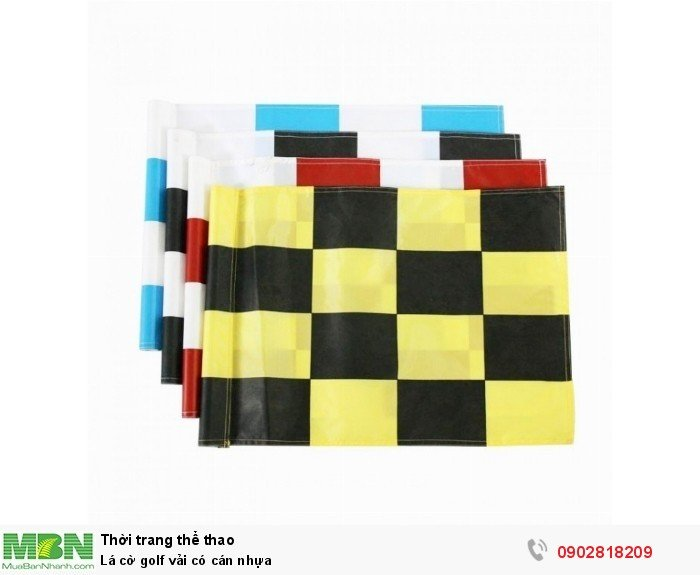 Lá cờ golf vải có cán nhựa3