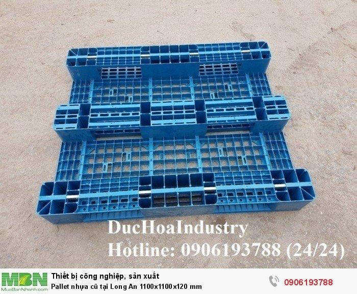 Pallet nhựa 1100x1100x120 mm tại Long An - Liên hệ: 0906193788 (Nguyễn Hòa 24/24)
