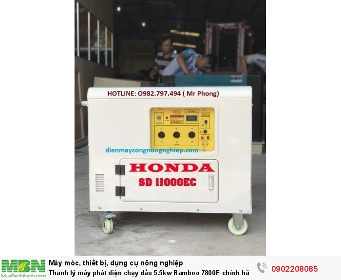 Thanh lý máy phát điện chạy dầu 5.5kw Bamboo 7800E chính hãng mới 100% giá cực rẻ1