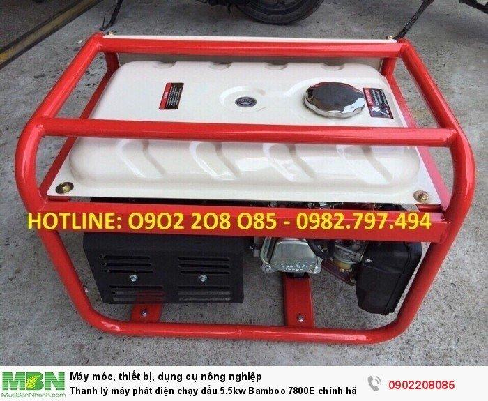 Thanh lý máy phát điện chạy dầu 5.5kw Bamboo 7800E chính hãng mới 100% giá cực rẻ0