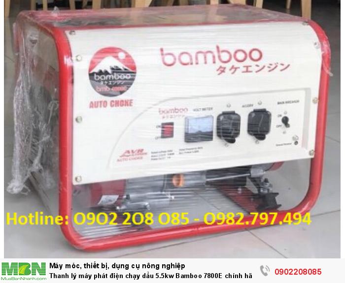 Thanh lý máy phát điện chạy dầu 5.5kw Bamboo 7800E chính hãng mới 100% giá cực rẻ2