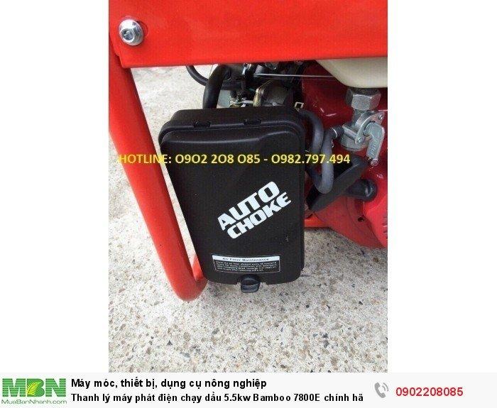 Thanh lý máy phát điện chạy dầu 5.5kw Bamboo 7800E chính hãng mới 100% giá cực rẻ4
