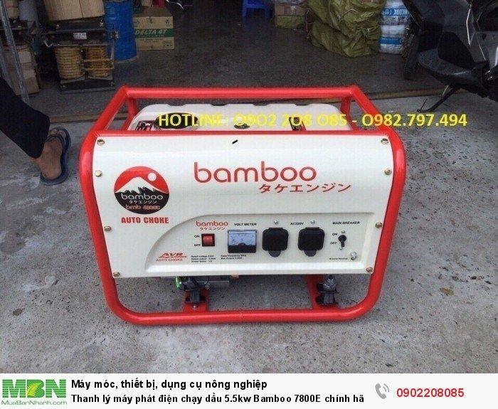 Thanh lý máy phát điện chạy dầu 5.5kw Bamboo 7800E chính hãng mới 100% giá cực rẻ5