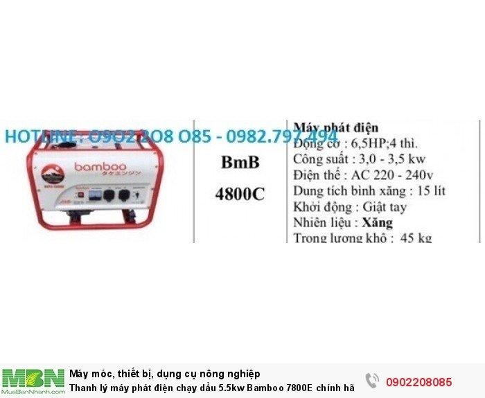 Thanh lý máy phát điện chạy dầu 5.5kw Bamboo 7800E chính hãng mới 100% giá cực rẻ6