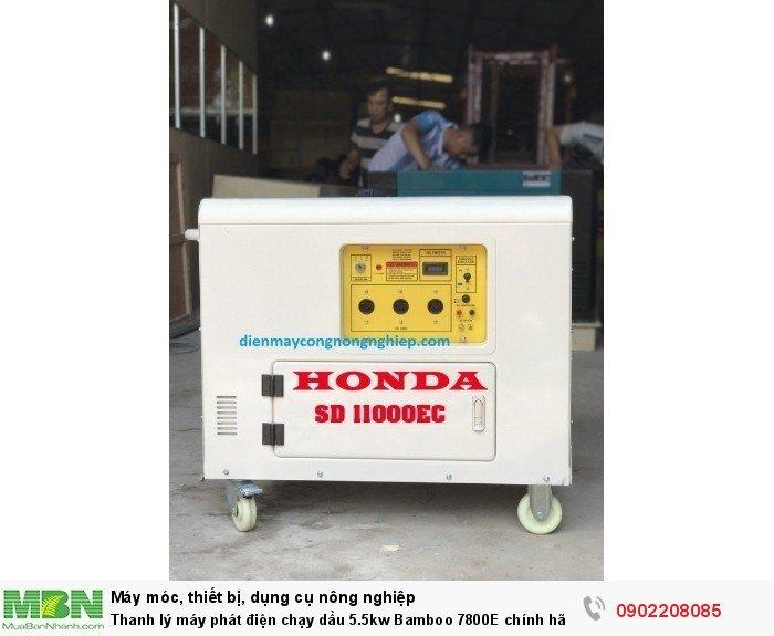 Thanh lý máy phát điện chạy dầu 5.5kw Bamboo 7800E chính hãng mới 100% giá cực rẻ8