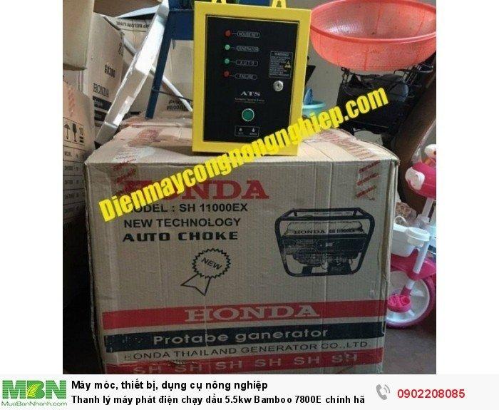 Thanh lý máy phát điện chạy dầu 5.5kw Bamboo 7800E chính hãng mới 100% giá cực rẻ7
