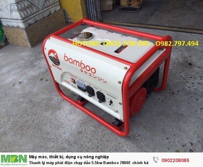 Thanh lý máy phát điện chạy dầu 5.5kw Bamboo 7800E chính hãng mới 100% giá cực rẻ9