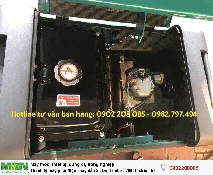 Thanh lý máy phát điện chạy dầu 5.5kw Bamboo 7800E chính hãng mới 100% giá cực rẻ11