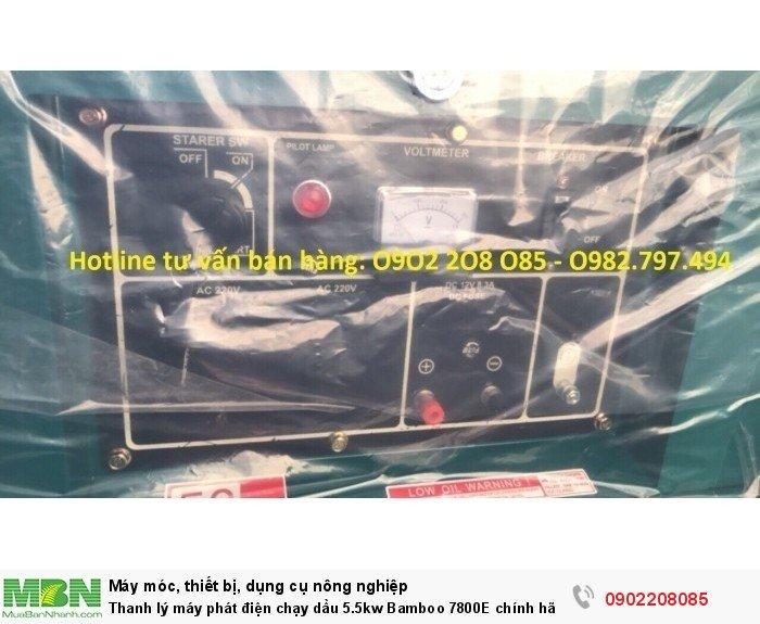 Thanh lý máy phát điện chạy dầu 5.5kw Bamboo 7800E chính hãng mới 100% giá cực rẻ12