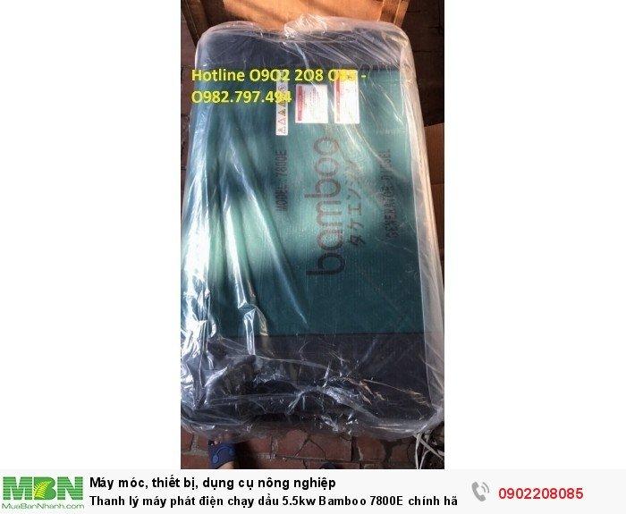 Thanh lý máy phát điện chạy dầu 5.5kw Bamboo 7800E chính hãng mới 100% giá cực rẻ13