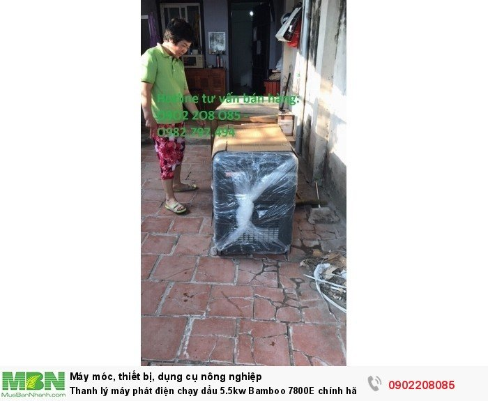 Thanh lý máy phát điện chạy dầu 5.5kw Bamboo 7800E chính hãng mới 100% giá cực rẻ14