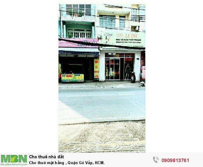 Cho thuê mặt bằng , Quận Gò Vấp, HCM.