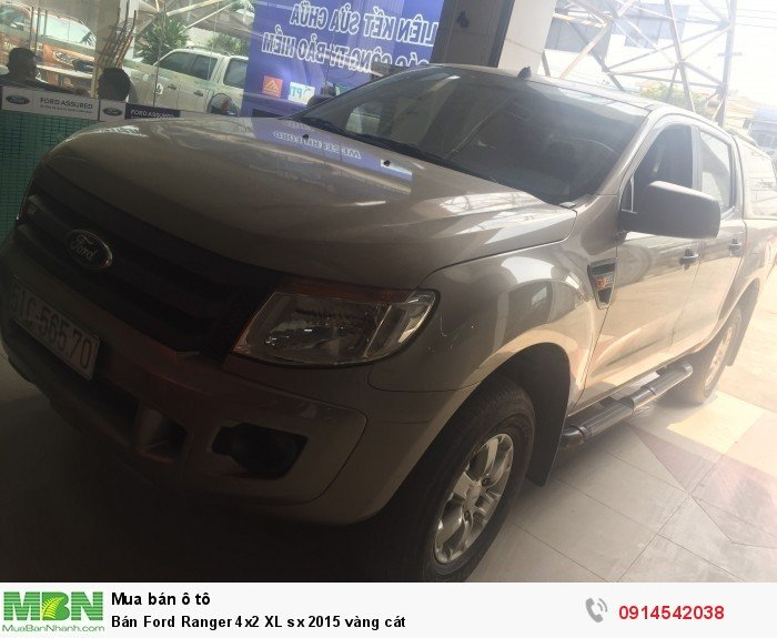 Bán Ford Ranger 4x2 XL sx 2015 vàng cát