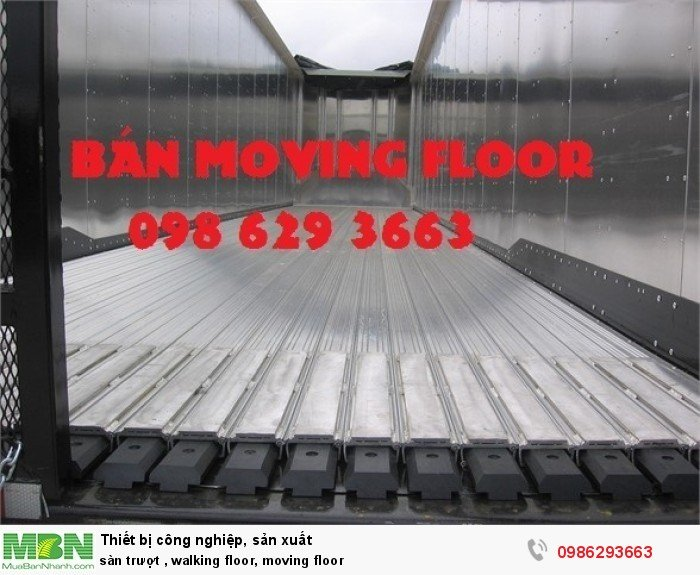 Sàn trượt , walking floor, moving floor
