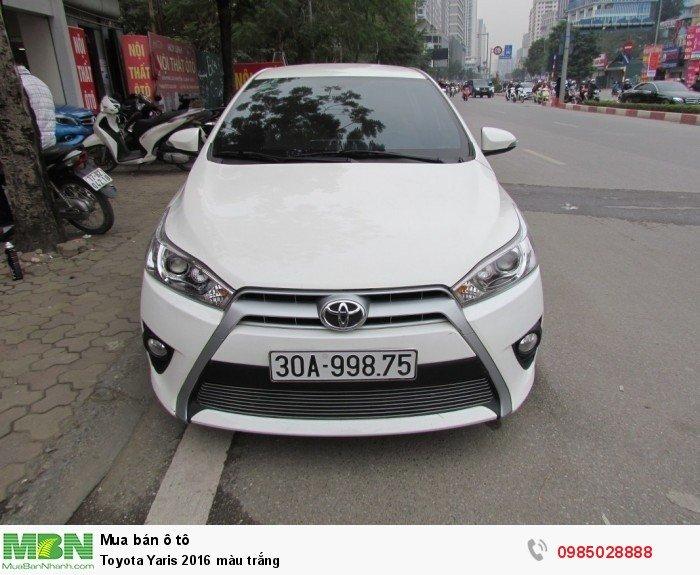 Toyota Yaris 2016 màu trắng 0