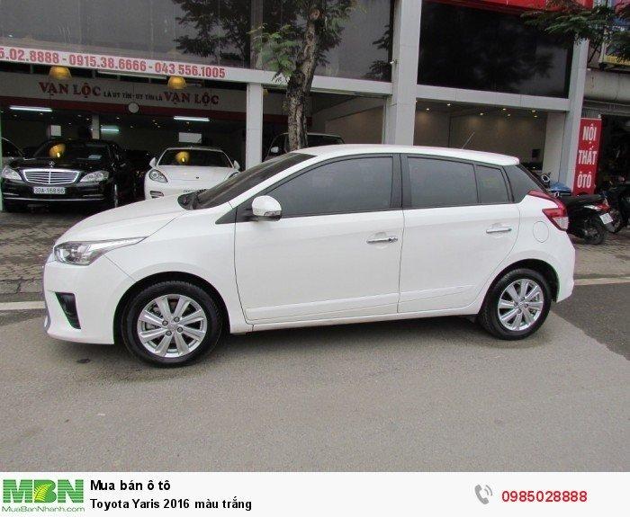 Toyota Yaris 2016 màu trắng 1