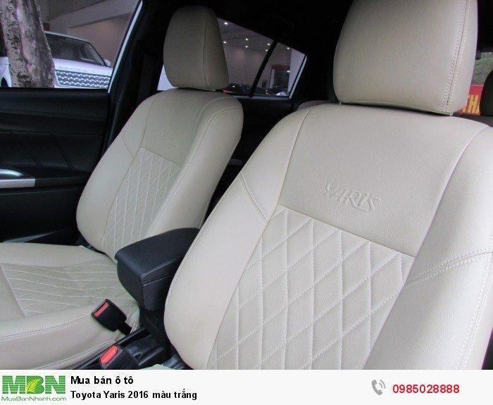 Toyota Yaris 2016 màu trắng 6