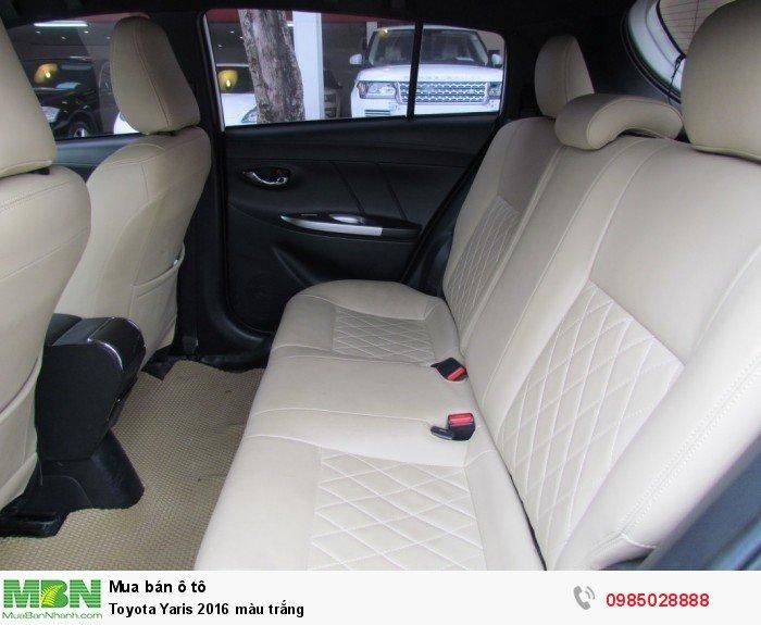 Toyota Yaris 2016 màu trắng 5