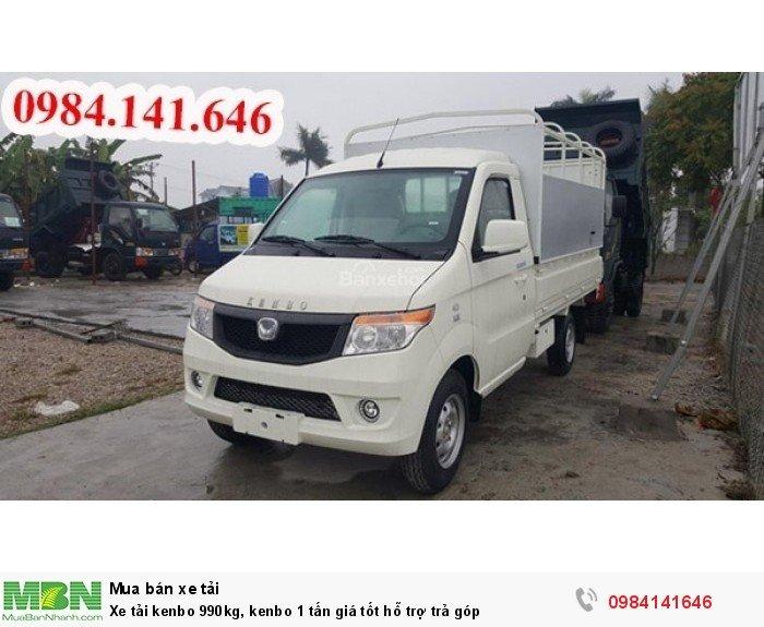 Xe tải kenbo 990kg, kenbo 1 tấn giá tốt hỗ trợ trả góp