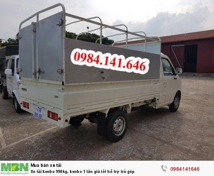 Xe tải kenbo 990kg, kenbo 1 tấn giá tốt hỗ trợ trả góp 3