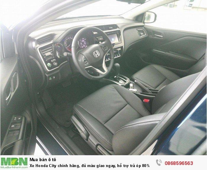 Xe Honda City chính hãng, đủ màu giao ngay, hỗ trợ trả óp 80% lãi suất ưu đãi.