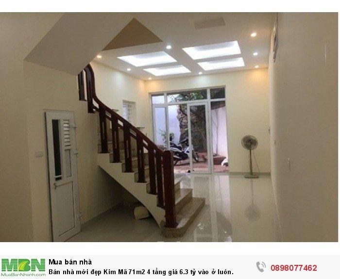 Bán nhà mới đẹp Kim Mã 71m2 4 tầng giá 6.3 tỷ vào ở luôn.
