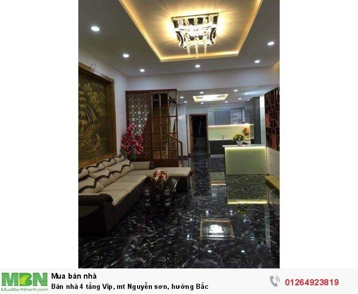 Bán nhà 4 tầng Vip, mt Nguyễn sơn, hướng Bắc