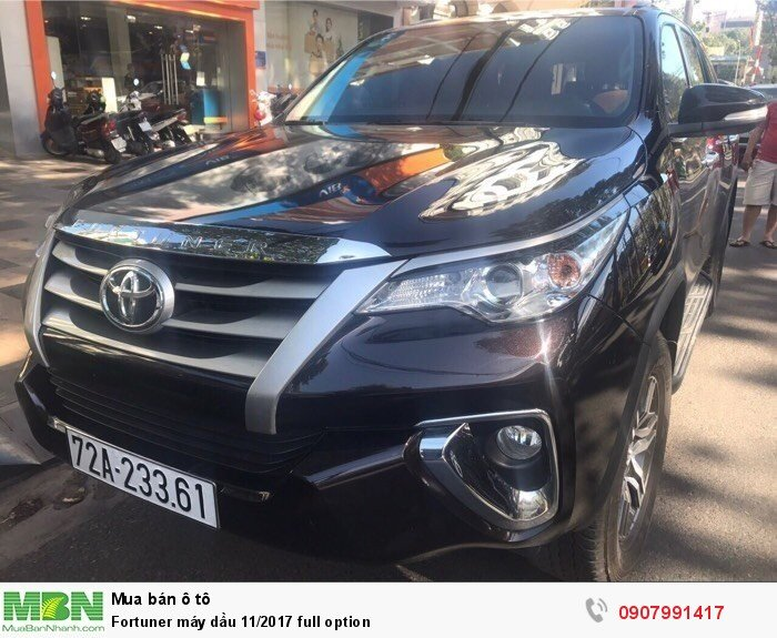 Fortuner máy dầu 11/2017 full option