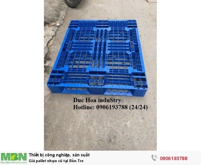 Giá pallet nhựa cũ tại Bến Tre, giao hàng toàn quốc - Liên hệ: 0906193788 (Nguyễn Hòa 24/24)