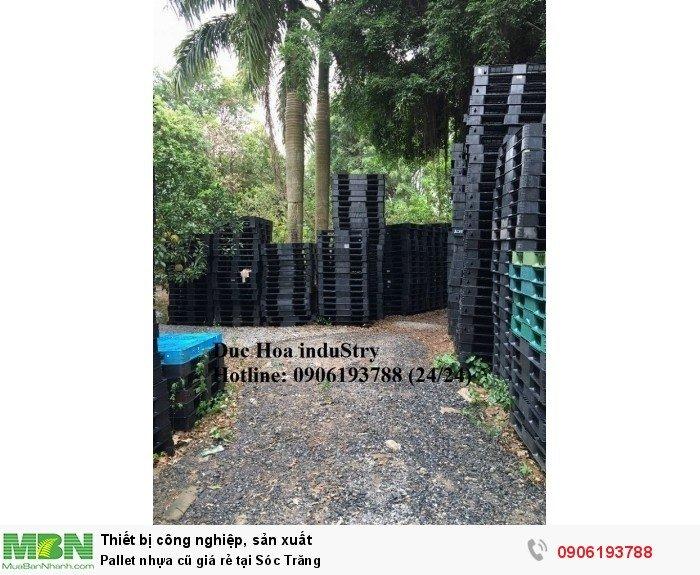 Pallet nhựa cũ giá rẻ tại Sóc Trăng, giao pallet nhựa toàn quốc - Liên hệ: 0906193788 (Nguyễn Hòa 24/24)