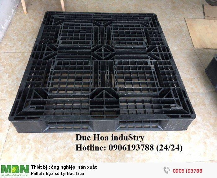 Pallet nhựa cũ tại Bạc Liêu - Duc Hoa induStry 0906193788 (24/24)