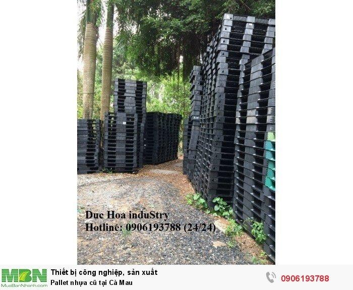 Pallet nhựa cũ tại Cà Mau - Duc Hoa induStry 0906193788 (24/24)