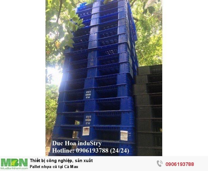 Pallet nhựa cũ tại Cà Mau, giao hàng toàn quốc - Duc Hoa induStry 0906193788 (24/24)