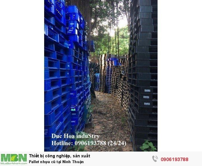 Bán pallet nhựa cũ giá rẻ tại Ninh Thuận - Liên hệ: 0906193788 Duc Hoa induStry 24/24