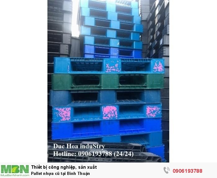 Bán pallet nhựa cũ giá rẻ tại Bình Thuận - Duc Hoa induStry 0906193788 (24/24)