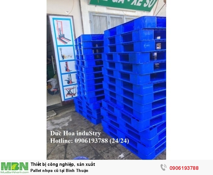 Công ty bán pallet nhựa cũ tại Bình Thuận - Duc Hoa induStry 0906193788 (24/24)