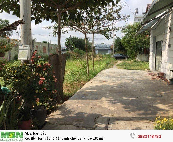 Kẹt tiền bán gấp lô đất cạnh chợ Đại Phước,80m2